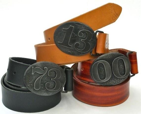 graduation gift - custom belt buckle - lucky number belt buckle- 11th anniversary gift for men - groomsmen gift -