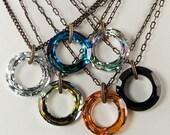 SALE Cosmic Ring Swarovski Crystal Necklace