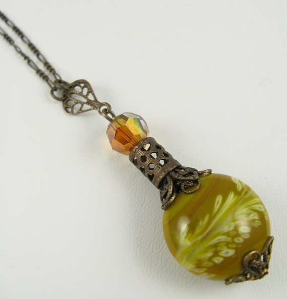 Amber Waves Of Grain Genie In A Bottle Necklace By