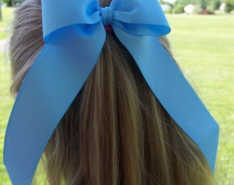 Custom Set of 3 Ponytail Style 4 Inch Bow with Long Tails--Your Choice of Colors!