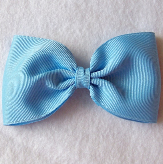 4 Inch Blue Tuxedo Style Hairbow - CLEARANCE