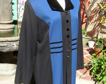Vintage Neo Edwardian Frock Coat in Larger Size