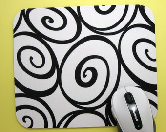 Buy 2 FREE SHIPPING Special!!   Mouse Pad, Computer Mouse Pad, Fabric Mousepad   Ironworks on Ivory