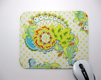 Buy 2 FREE SHIPPING Special!!   Mouse Pad, Fabric Computer Mousepad       Summer Paisley