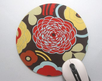 Buy 2 FREE SHIPPING Special!!   Mouse Pad, Computer Mouse Pad, Round Fabric Mouse Pad or Trivet    Mocca