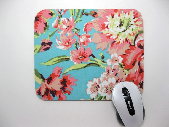 Bliss Bouquet in Teal MousePad