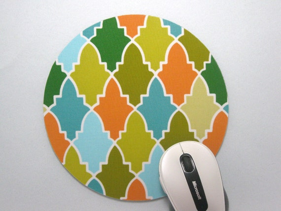 Buy 2 FREE SHIPPING Special!!   Mouse Pad, Computer Mouse Pad, Round Fabric Mouse Pad or Trivet      Persian Wall in Breeze