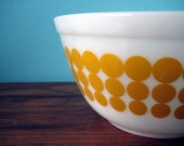 Pyrex - yellow dot pattern