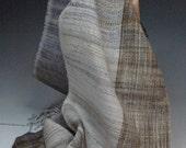 Handwoven Cashmere Silk Scarf: Wabi I