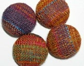 Handwoven Covered Buttons: Spiced Linen
