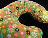 Nursing Pillow Cover - Minky Green Floral