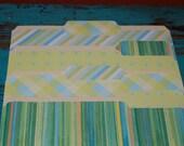 SALE...LEMON LIME decorative file folders...set of 4...keeps you organized...READY TO SHIP