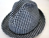 Vintage Men's Houndstooth Check Hat - TheModShop