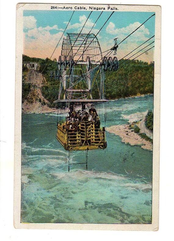 264 Aero Cable, Niagra Falls postcard, vintage