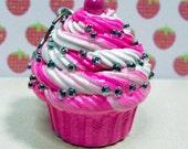 Strawberry Cupcake Key Chain Charm