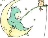 Children's Art Print Starfish BlueBear 5x7