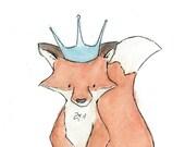 ROYAL FOX   5x7 Archival Print