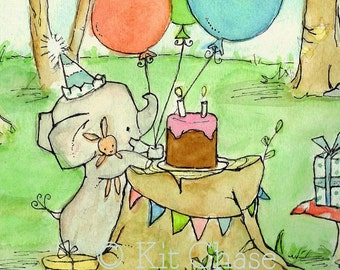 Happy Party To Us -- Archival Print -- Children's Art