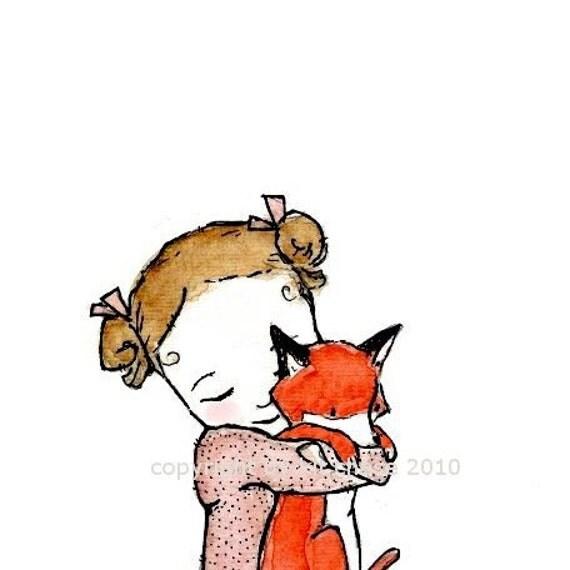 FOX GIRL  8X10 Print