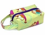 Stitched by JessaLu Box Bag - Yoga Monkeys