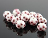 7pcs limited edition lampworked glass beads-Rondelle 13x11mm (25Z-2)