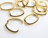 2pcs Gold Tone Necklace Shortener-26.5x20mm (I-356)