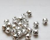 40pcs Oxidized Silver Tone Base Metal Spacers-6x5mm (296X-H-177A)