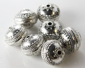 4 Pieces Oxidized Silver Tone Base Metal Spacers-Saucer 17x14mm (2534X-E-531)