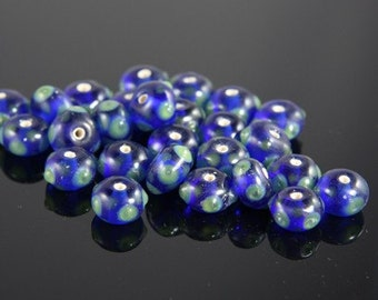 10pcs limited edition lampworked glass beads-Rondelle 16x8mm (55Z-3)