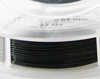 Artistic Wire 22 Gauge Lead/Nickel Safe-Black 15Yard