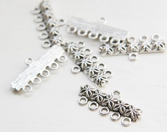 18pcs Oxidized Silver Tone Base Metal Findings-25x12mm (753Y-J-181)