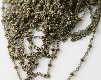 6 Feet Oxidized Brass Chains-Flat Oval and Ring (413C02)
