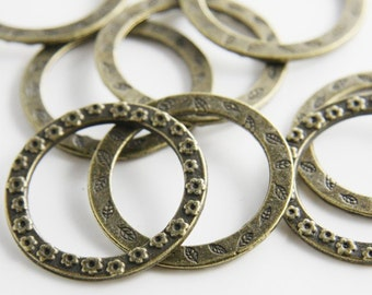 10pcs Antique Brass Base Metal Rings-33mm (637/2Y-F-19B)