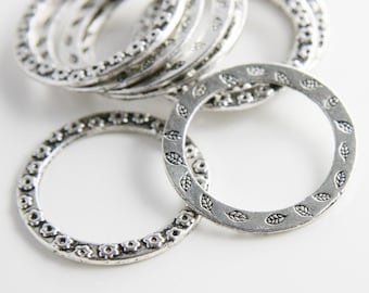 10pcs Oxidized Silver Base Metal Rings-33mm (637/2Y-F-19A)