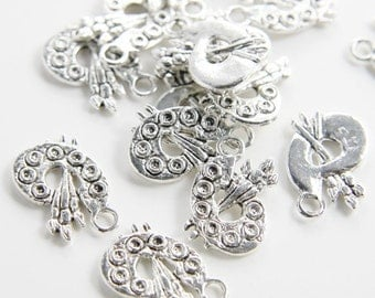 20pcs Oxidized Silver Tone Base Metal Charms-Palette (1132X-C-241)