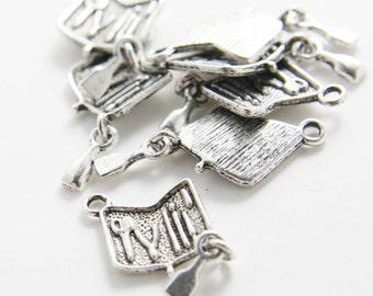 12pcs Oxidized Silver Base Metal Pendant - Tool Box 14X12MM (13143-F-239A)