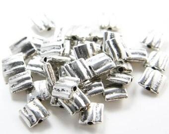 30pcs Oxidized Silver Tone Base Metal Spacers-9x9mm (9608Y-C-154)