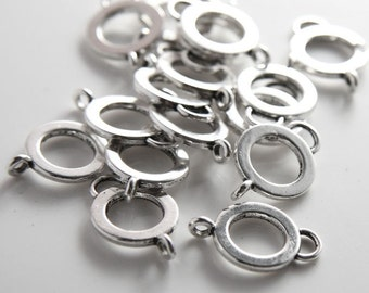 20pcs Oxidized Silver Tone Base Metal Fancy Links-22x15mm (14392Y-G-262)