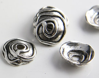 12pcs Oxidized Silver Tone Base Metal Findings-Cap 20x5mm (13161Y-P-60A)