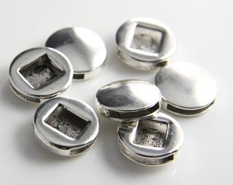 6pcs Oxidized Silver Tone Base Metal Spacers-Coin 17mm (14084Y-F-218)