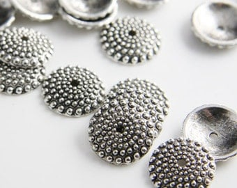 20pcs Oxidized Silver Tone Base Metal Findings-Cap 15x3.5mm (13250Y-K-21A)