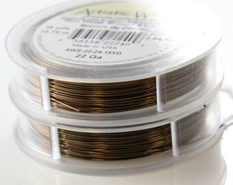 Artistic Wire 22 Gauge Lead/Nickel Safe-Antique Brass 15Yards
