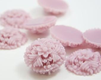 6pcs Acrylic Flower Cabochons-Lavender 29mm  (F0013-A-109)