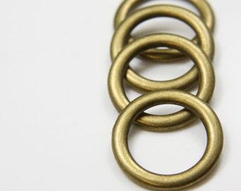 4pcs Antique Brass Tone Base Metal Rings- 28mm (11678Y-B-9B)