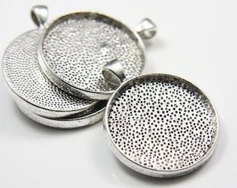 4pcs Oxidized Silver Tone Base Metal Cameo Settings-42x33mm (13349Y-E-130A)