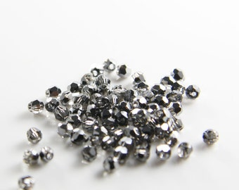 10pcs Swarovski 5000 Round-Silver Night Crystal 3mm (SW01006)