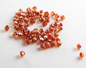 10pcs Swarovski 5000 Round-Red Magma Crystal 3mm (SW01005) D