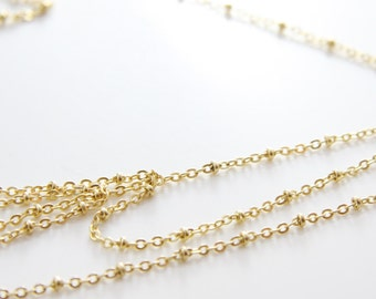 3 Feet Premium Matte Gold Plated Brass Chains-Flat Oval and Ring (413C06)