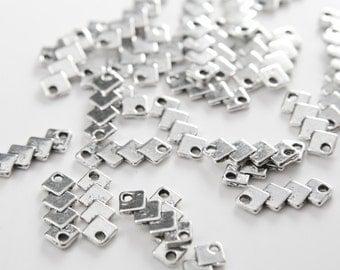 40pcs Oxidized Silver Tone Base Metal Links-18x7mm (11021Y-B-154A)