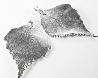 2pcs Oxidized Silver Tone Base Metal Pendants-Leaf 72x46mm (9390Y-C-80A)